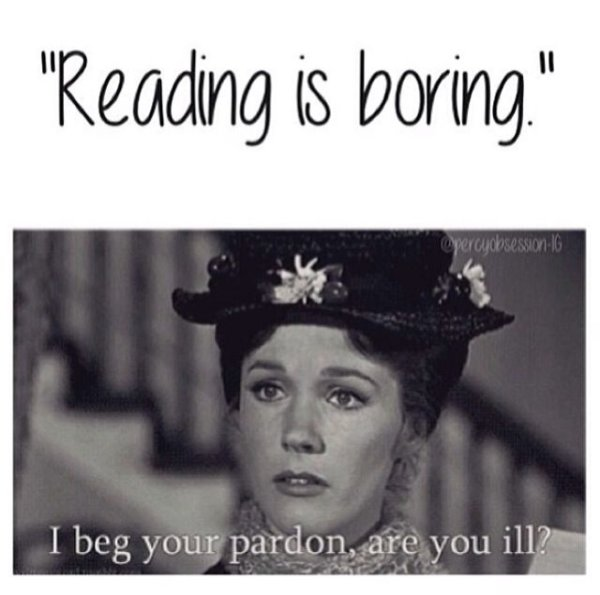 Reading is boring