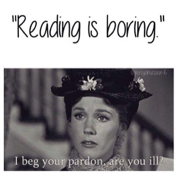 Reading is boring