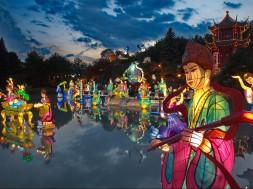 Jardins de lumière, Jardin de Chine (Crédits: Jardin botanique de Montréal) (Michel Tremblay) - (Groupe CNW/Espace pour la vie)