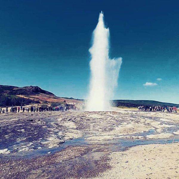 Geysir, Iceland, Geyser en éruption